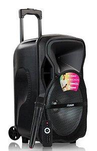 CAIXA DE SOM ATIVA CM600BT FRAHM com BATERIA / USB / BLUETOOTH / FM e MICROFONE