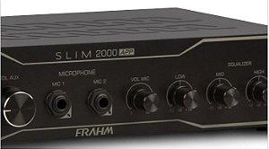 AMPLIFICADOR PARA SOM AMBIENTE FRAHM SLIM 2000 APP USB e  BLUETOOTH