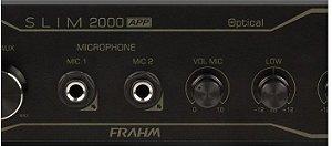 AMPLIFICADOR PARA SOM AMBIENTE FRAHM SLIM 2000 APP / ÓTICO / USB e  BLUETOOTH