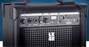 CAIXA AMPLIFICADA COMPACTA LX40FM LL AUDIO