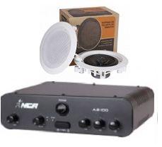 Amplificador AB100 NCA + 1 PAR Caixa Gesso DR500