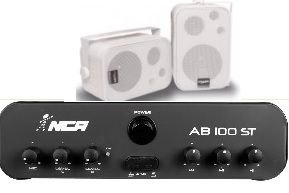Amplificador AB100ST NCA + 1 PAR Caixa SP400 Branca