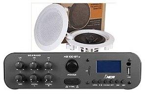 Amplificador SA100BT ESTÉREO NCA ( Bluetooth ) + 1 PAR Caixa Gesso DR500