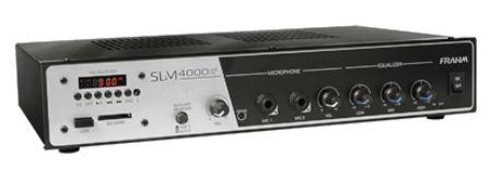 Amplificador para até 50 caixas SLIM 4000 USB/FM 400 Watts RMS - FRAHM