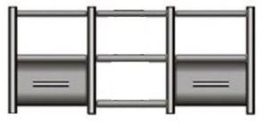 Rack Airon HT-150.02 com 2 gavetas cor black + sapata SD 12