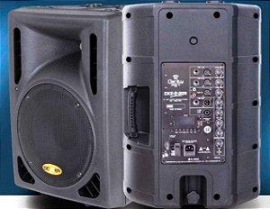 Caixa Acústica Ativa Clarity  Donner CL200A BT C/ USB E BLUETOOTH + Caixa Passiva CL200P