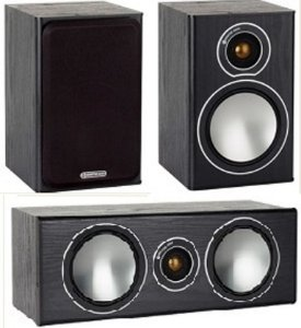 Kit Home 2 Caixas Bookshelf SBRS1B + Caixa Central SBRSCB Monitor Audio