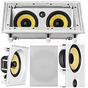 Kit Home JBL  5 caixas ( 2 pçs  CI8SA + 1 pç CI55RA + 2 pçs CI8R )