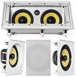 Kit Home JBL  5 caixas ( 2 pçs  CI6SA + 1 pç CI55RA + 2 pçs CI6S )