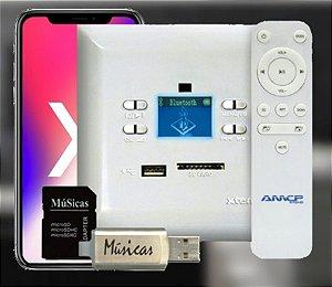 Amplificador de Parede com FM e Bluetooth KPBT-XT COM APP