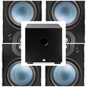 KIT HOME AAT 4.1 - ( 4 unid LR E100 + 1 sub Compact Cube 8 )