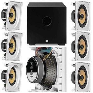 kit Home JBL 7.1 - 3 cxs CI8SA e 4 cxs CI8S + Subwoofer Cube 8 AAT