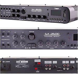 Amplificador Som Ambiente  NCA SA2600  Óptical 180w rms