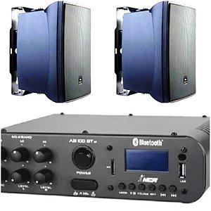 Amplificador NCA SA100BT ST Bluetooh + Par de caixa JBL C321P