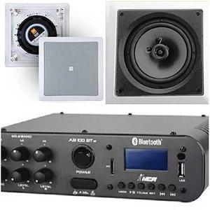 Amplificador NCA SA100BT ST Bluetooh + Par de Caixa Gesso  JBL 6CO1Q