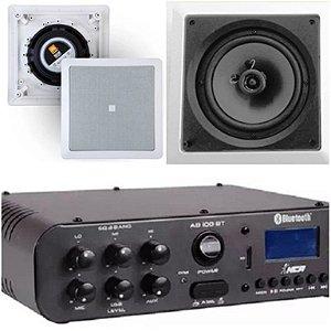 Amplificador NCA SA100BT Bluetooh + Par de Caixa Gesso  JBL 6CO1Q