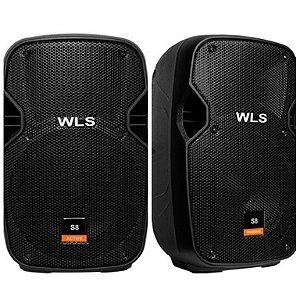 Caixa Acústica WLS S8 Ativa com Bluetooth + Caixa S8 Passiva