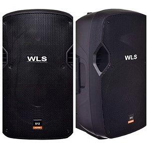 Caixa Acústica WLS S12 Ativa com Bluetooth + Caixa S12 Passiva
