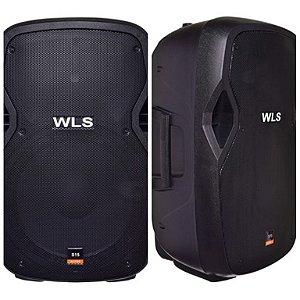 Caixa Acústica WLS S15 Ativa com Bluetooth + Caixa S15 Passiva