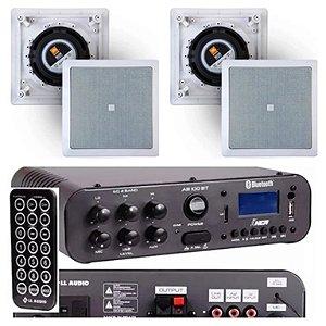 Amplificador NCA SA100BT Bluetooh + 4 Caixas Gesso  JBL 6CO1Q