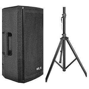 Caixa Acústica WLS PA 12 PRO + Tripé ST002 1,80m