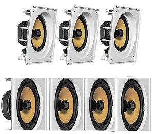 Caixa de Som JBL kit Home com 3 cxs CI8SA e 4 cxs CI8S