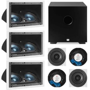 Kit Home 7.1 AAT ( 3 cxs LCR A100 + 4cxs NQ6 100 + Sub Comp Cube 8 )