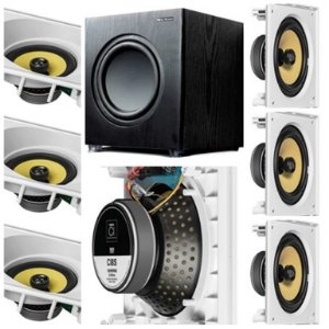 kit Home JBL 7.1 - 3 cxs CI8SA e 4 cxs CI8S + Subwoofer Sub 200FD New Audio