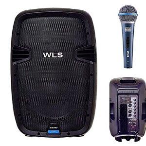 Caixa Acústica WLS  J10 PRO Ativa + Microfone M58A