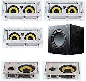 Kit Home JBL - 3 Caixas CI55RA + 2 Caixas Ci6R + Sub 200FD