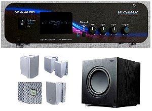 Amplificador New Áudio BIA 200 BT 2.1 Estéreo + Sub 200FD + 4 Cxs JBL C321B