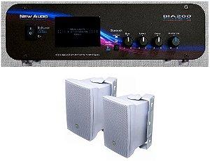 Amplificador New Áudio BIA 200 BT 2.1 Estéreo + 2 Cxs JBL C321B