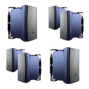 Caixa Acústica JBL  p/ Som Ambiente 30W RMS C321P Preta (Kit com 4 caixas )
