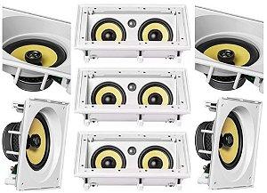 Kit Home JBL 7.0 - 3 caixas CI55RA + 4 CAIXAS CI8SA