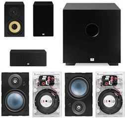Kit Home 7.1 AAT ( 2 Cxs Rakt BSF-70 + 1 Cx Rakt C-140 + 4 Cxs LRE100 + Sub Cube 8 )