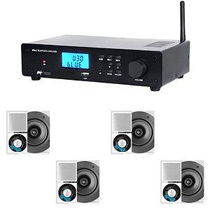 Amplificador AAT BTA-2 BT + 4 Caixas Gesso NQ6 M-100 Quadrada