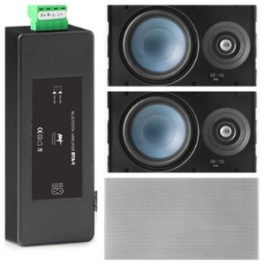 Amplificador AAT BTA-1 Bluetooth  60W RMS + 2 Caixas Gesso LRE100