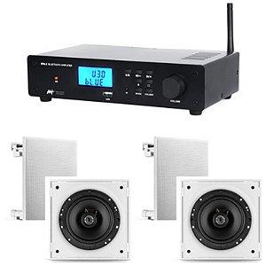 Amplificador AAT  BTA-2  ST + 4 Cxs Frahm 6CX 50w Rms  Cor Branca