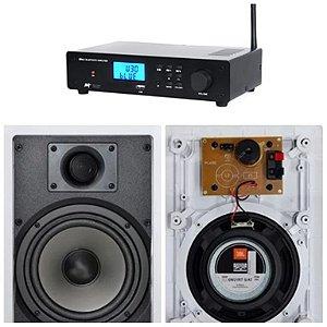 Amplificador AAT  BTA-2 BT ST + 2 Caixas JBL 6W21RT