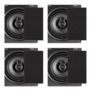 Caixa Frahm 6cx 50w Rms - Quadrada ( Kit com 4 cxs pretas)