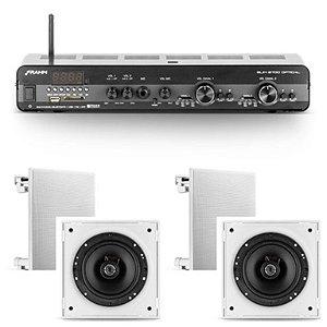 Amplificador Frahm Slim 2700 Óptico c/ zona 2 + 2 Cxs 6CX 50