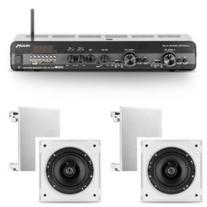 Amplificador Frahm Slim 2700 Óptico c/ zona 2 + 4 Cxs 6CX 50