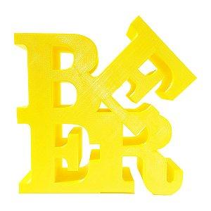 Letreiro BEER