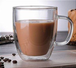 XÍCARA COPO DE CAFÉ PAREDE DUPLA 450ml CONJUNTO COM 2 UNIDADES