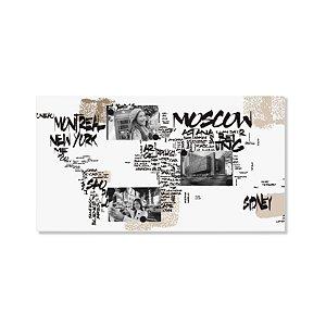 Mural Mapa Mundi Cidades