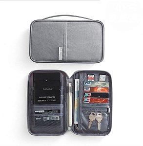 Porta Passaporte Cinza