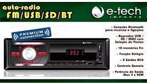 AUTO RADIO BLUETOOTH FM-USB-SD