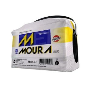 MOURA 60 Ah P/D   Garantia 18 meses
