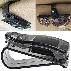 Porta óculos caneta veicular automotivo carro quebra sol