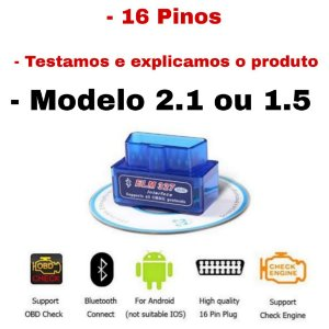 Scanner Ferramenta Auto Diagnóstico Obd Elm327 Bluetooth V 1.5 carro veicular